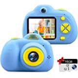 Kids Camera Gifts for 3-9 Year Old Girls,1080P HD Mini Rechargeable Children Shockproof Digital Front and Rear Selfie Camera