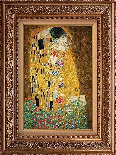 """クリエイティブ3d視覚効果壁壁画–The Kiss by Gustav Klimt–Peel & Stick Wall Decor 48""""x36"""""""