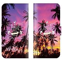 【 ankh 】 手帳型ケース 全機種対応 【 AQUOS PHONE SERIE SHL23 アクオスフォンセリエ SHL23専用 】 ハワイアン パームツリー プルメリア hawaii ビーチ サーフ ハワイ ブック型 二つ折り レザー 手帳カバー スマホケース スマートフォン