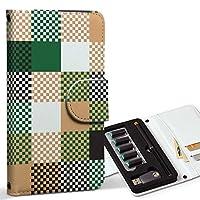 スマコレ ploom TECH プルームテック 専用 レザーケース 手帳型 タバコ ケース カバー 合皮 ケース カバー 収納 プルームケース デザイン 革 その他 ブロックチェック 緑 000513