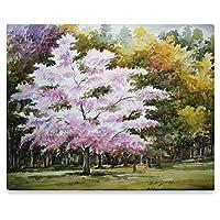 (ArtsAdd) キャンバス プリント アート ポスターフレーム エレガントスタイルインテリア Canvas Print 20x16 インチ Beauty of Autumn Forest - Watercolor on Paper Painting