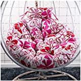 Round Cotton Pads Removable Seat Cushions with Pillow, Swing Hammock Egg Chair Cushion Without Stand, Overstuffed Hanging Baskets Rattan Chair Cushions 42inch,26