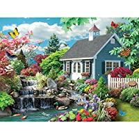 Bits and Pieces–1000ピースジグソーパズルfor Adults–Dream Landscape–1000pcスプリングシーンJigsaw by Artist Alan Giana