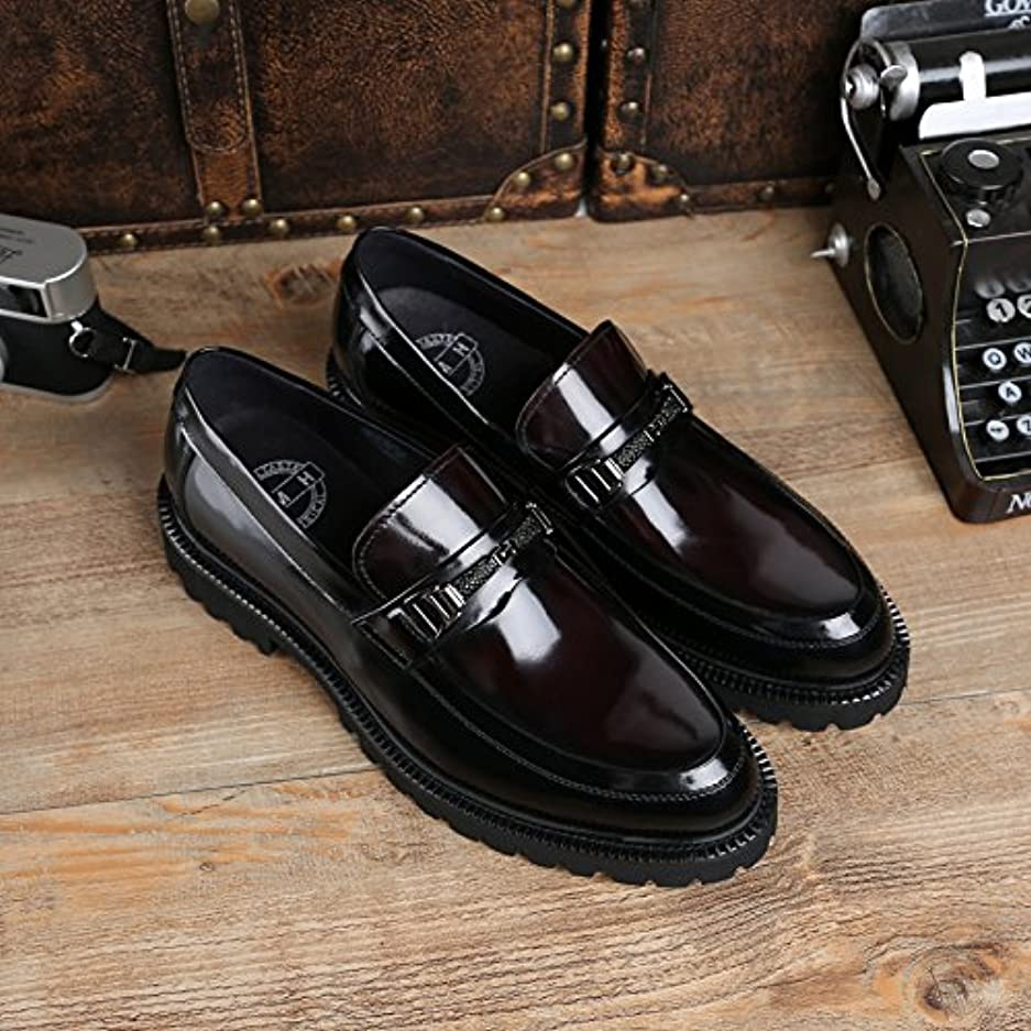 成り立つティッシュ非難する2018新入荷 メンズビジネスシューズ ビットローファー 紳士靴 ヨーロピアン 本革 レザー 牛革 Uチップ 2色 ブラック&ワインレッド DJ47