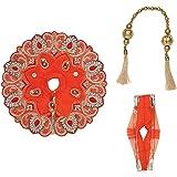 Orange Decorative Cloth for Lord Krishan Ladu Laddu Gopal Kanaiya Bal Krishna Dress Poshak Vastra for Little Metal Idol Statu