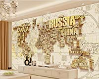 Wapel Beibehang papel ド parede 3 D の写真の壁紙レトロな世界地図のベッドルームのリビングルームの壁 3 のテレビの背景の壁の壁紙 d 絹の布 350x250CM