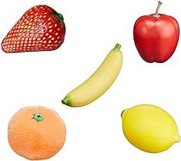 PLAY WOOD フルーツシェイカーマラカス5種セット (イチゴ バナナ リンゴ ミカン レモン) 子ども リトミック 楽器