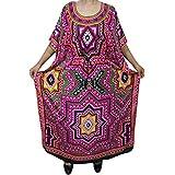 Bohemian Chic Designs Womens Kimono Kaftan Printed Maxi Dress Beach Cover Up Evening Caftan Dresses XXXL
