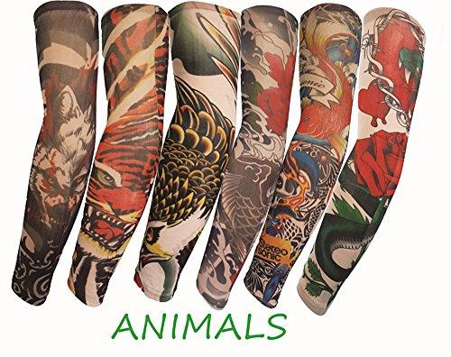SHINA タトゥースリーブ アームカバー 6本セット TattooSleev・・・