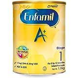 Enfamil A+ Stage 1 Infant Milk Formula 360 DHA+, 0-12 months, 1.8kg