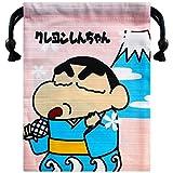 クレヨンしんちゃん しんちゃんと富士山 シャンタン巾着 約H20cm x W15.8cm KYKN177