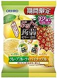 オリヒロプランデュ ぷるんと蒟蒻ゼリーパウチ グレープフルーツ+パイナップル 20gx12個×6袋