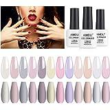 AIMEILI Soak Off UV LED Gel Nail Polish Multicolour/Mix Colour/Combo Colour Set Of 12pcs X 8ml - Kit Set 3