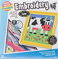 Small World Toys Art Cow Embroidery Kit [並行輸入品]