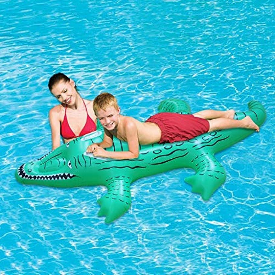 鉄静かなモスクSGLI 漫画スタイルの膨脹可能な浮遊行のプールはおもちゃの緑ポリ塩化ビニールを並べました 水泳リング