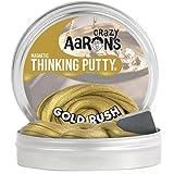 【 磁石に反応する!シリコン製パティ 】 Crazy Aaron's Putty World シンキングパティ スーパー マグネット シリーズ EU安全規格適合 内容量90g レギュラーサイズ Made in USA 日本正規代理店品 【 ゴールド