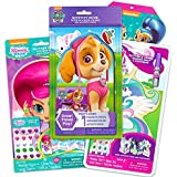 Dress Up Dolls for Kids ~ Bundle Includes 3 Wooden Doll Sets Featuring My Little Pony, Shimmer and Shine, and Paw Patrol with Glitter, Jewels, Magnetic Pieces, Stickers, and Story Books