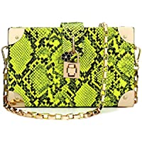 Women's Clutch Bag Fashion Snakeskin Pattern Evenlope Purse Handbag Designer Leather Evening Handbag Chain Shoulder Bags