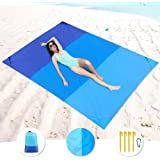 Beach Blanket,picnic blanket Large Oversized Waterproof Sand Proof Beach Mat, Outdoor Lightweight Portable Picnic Mat for Tra
