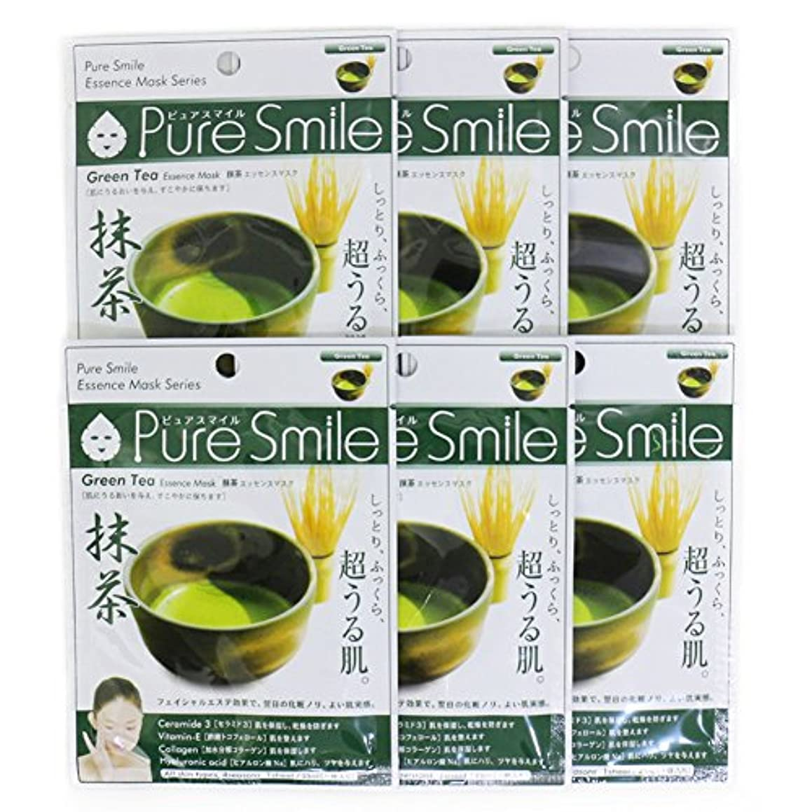 ピークエスニック解き明かすPure Smile ピュアスマイル エッセンスマスク 抹茶 6枚セット
