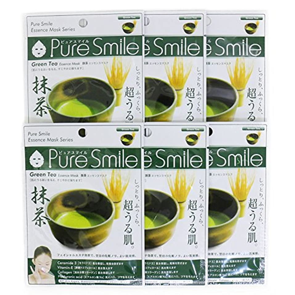 消毒剤塊アカデミーPure Smile ピュアスマイル エッセンスマスク 抹茶 6枚セット