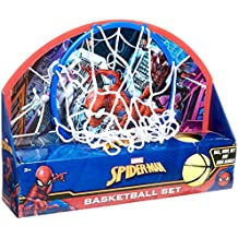 Marvel Ultimate Spiderman 13.5 X 10 Basketball Set Ball, Hoop, Net and Door Hanger, Multi