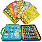Preschool Maths Cards Learning Toys - Wishtime Colourful Maths Games for Toddler Kids Educational Number Counting Cards for Girls Boys . Christmas Gifts (15 maths cards+72 numbers )