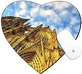 Luxladyマウスパッドハート型マウスパッド/マットイメージデザインID : 34579857部族のThe Dom Church in the City Cologne withブルー空とEvening Sun