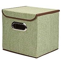 収納ラック ポータブル綿の衣類収納ボックス収納ボックスステンレス製の事務用品、ファイルストレージボックス デスクブックシェルフ (色 : 緑, サイズ : L(45*30*30cm))