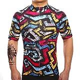 SUREA サイクルジャージ サイクルウェア 通気速乾 新型生地 メンズ 半袖 春夏用 シャツ フィット感重視 自転車ウェア サイクリングウェア Sサイズ