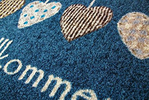 クリーンテックス ジャパン wash+dry薄型で丈夫な洗える玄関マット Cottage Hearts red 50×75cm 1枚 [7703]