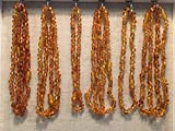 10 Baltic Amber Necklace wholesale lot bulk TEN Necklaces Maximum Effective Baltic Amber Teething Necklace Honey Infant Baby Babies Toddler Bub Fever Drooling Inflamation Colic Reflux Eczema Aches and Pains Diaper Rash Growing Pains Cold Symptoms Round Oval Design Therapeutic Holistic Natural Organic GERD Reflux Colic fever Brown Yellow by Baltic Amber