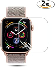 Apple Watch 44mm フィルム COLIN【全面保護】Apple Watch Series 4 フィルム TPU素材 弧状のエッジ加工 Apple Watch Series 4 保護 フィルム 全面保護 アップルウォッチ フィルム 高透過率 HD画面 Apple Watch Series 4 44mm 対応【2枚入り】 (44MM)