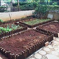 JIANFEI 木製 ボーダーフェンス デコレーション 庭のバリア 植物保護 炭化 、16サイズ (色 : ブラウン ぶらうん, サイズ さいず : 120x20cm)
