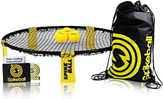 Spikeball 3 Ball Game Set - Outdoor Indoor Gift for Teens, Family - Yard, Lawn, Beach, Tailgate - Includes Playing Net,...
