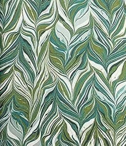 壁紙 CASAMANCE 不織布(フリース)素材 ランダム柄 グリーン ホワイト 73890510 輸入壁紙