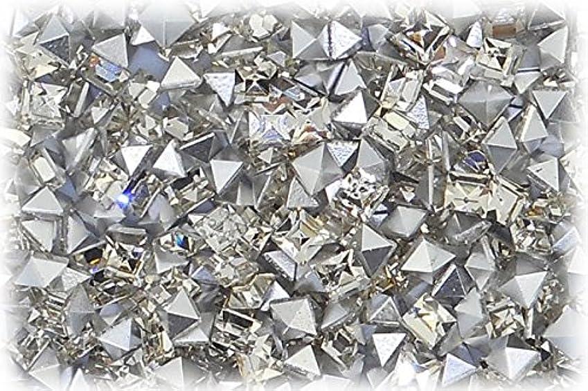 手首批評掃くSHAREKI CRYSTAL Vカット チャトン ラインストーン スクエア 四角形 クリスタル 3mmx3mm 10個入りx3セット=30個 cry-3x3