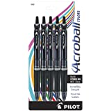 PILOT Acroball Colors Advanced Ink Refillable & Retractable Ball Point Pens, Medium Point, Black Ink, 5-Pack (31807)