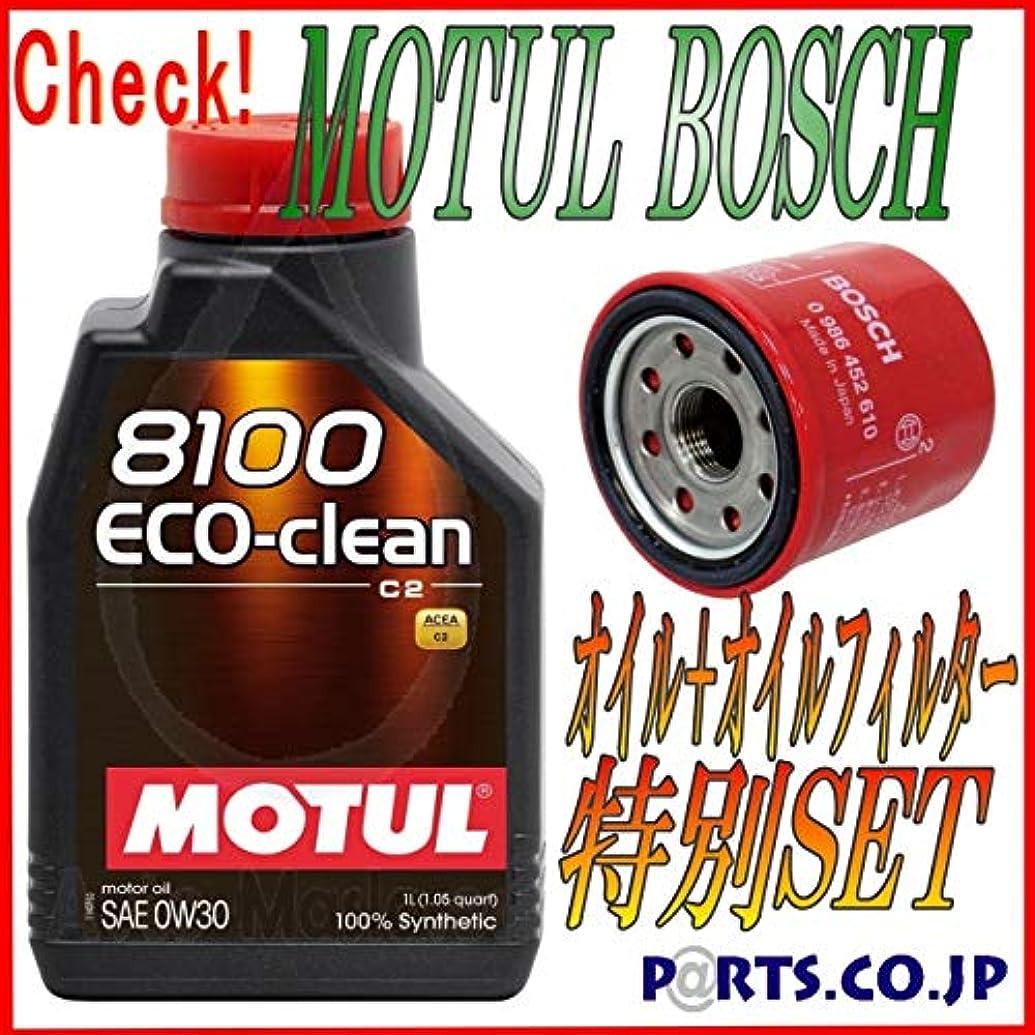 匿名キウイアーティキュレーションフィルター付 MOTUL 8100ECO-clean 0W30 1Lx5 BOSCH R T-6 トヨタ アイシス ZNM10G/W 1ZZ-FE