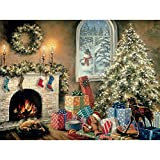 Bits and Pieces???300ラージピースグローin theダークパズルfor Adults???Not a Creature Was Stiring、クリスマスEve、Holiday???by Artist Nicky Boehme???300?pcジグソー