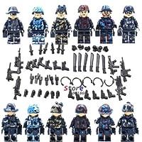 特殊部隊、軍事ミニフィギュア 武器防具付き6種セット