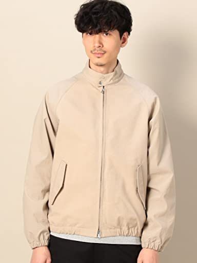 Oxford Nylon Harrington Jacket 1225-139-8313: Beige