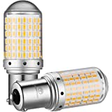 WenTop S25 LED ウインカー シングル バックランプ アンバー/オレンジ ピン角180° 美光3014SMD 144連 6500K アルミヒートシンク ハイフラ防止抵抗内臓普通車/ハイブリッド車(HV車・EV車)対応 DC12V車用 2個入