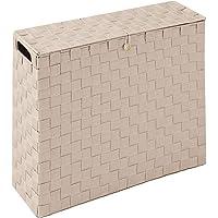 コモライフ 目隠し収納スリムボックス トイレ サニタリーボックス 幅14cm 収納ラック ストッカー トイレットペーパー…