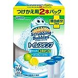 スクラビングバブル トイレ洗浄剤 トイレスタンプ 漂白成分プラス ホワイティーシトラスの香り 付替用2本 38g×2本
