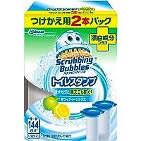 スクラビングバブル トイレ洗浄剤 トイレスタンプ 漂白成分プラス ホワイティーシトラスの香り 付替用(2本入り×1箱…