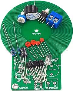 Yunskynomise はんだ付け練習キットの金属探知器の電子部品は電子探知器キットを検出した後音およびライトを作り出します(色:黒)