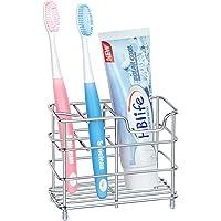 HB LIFE 人気 歯ブラシスタンド ステンレス 置き型 歯ブラシホルダー 歯ブラシ立て 電動歯ブラシ 防錆 多機能…