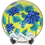 九谷焼 名品コレクションNO4 古九谷青手土坡に牡丹図(皿立付き)