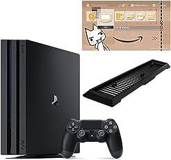 PlayStation 4 Pro ジェット・ブラック 1TB  (CUH-7200BB01) 【新価格版】【Amazon.co.jp限定】アンサー 縦置きスタンド付 & オリジナルカスタムテーマ (配信)